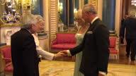 Interior shots of Prince Charles Camilla Duchess of Cornwall greet Emperor Akihito and Empress Michiko of Japan at Sovereign dinner Prince Charles...