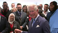 interior shots of Prince Charles giving speech during his visit to the Prince's Trust Morgan Stanley Centre on May 13 2015 in Poplar London England
