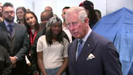 interior shots of Prince Charles giving speech to members and staff during his visit to the Prince's Trust Morgan Stanley Centre on May 13 2015 in...