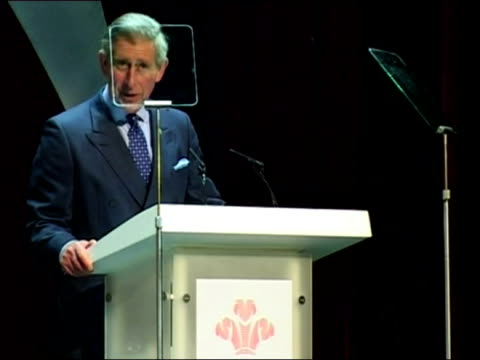 interior shots of Prince Charles making a speech at the 30th anniversary of the Prince's Trust Celebrate Success Awards including shots of Camilla...