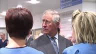 Interior shots of Prince Charles meeting medical staff at Glasgow Royal Infirmary where victims of the Glasgow helicopter crash were treated Prince...