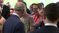 interior shots of Prince Charles meeting young people during his visit to the Prince's Trust Morgan Stanley Centre on May 13 2015 in Poplar London...
