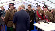Interior shots of Prince Charles Prince of Wales meet and greet with service men and women The memorial honoured the service and duty of both the UK...