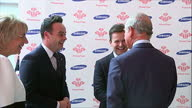 Interior shots of Prince Charles speaking to Anthony McPartlin and Declan Donnelly known as 'Ant and Dec' at the Princes Trust Awards>> on March 12...