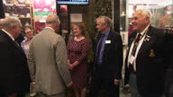 Interior shots of Prince Charles touring the Royal Welsh Regimental Museum meeting veterans on 11 July 2017 in Brecon United Kingdom
