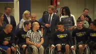 Interior shots of Prince Harry and Michelle Obama posing for photo op with members of wheelchair basketball teams as they officially launch the...