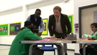 Interior shots of Prince Harry meeting children taking part in the Yes You Can project's 'I Have a Dream' programme>> on March 21 2017 in Leicester...