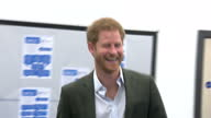 Interior shots of Prince Harry meeting students and mentors taking part in the Yes You Can project at Hamilton Community College on March 21 2017 in...
