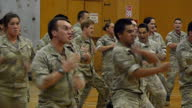 Interior shots of Prince Harry taking part in 'Haka' at Lintern Military Base during a visit on May 13 2015 in Palmerston North New Zealand