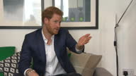 Interior shots of Prince Harry visiting group of veterans living at the WWTW training house on 4th September 2017 Manchester England