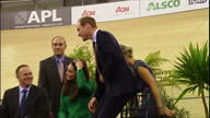 Interior shots of Prince William Catherine Duke Duchess of Cambridge officially opening the Avantidrome on April 12 2014 in Hamilton New Zealand...