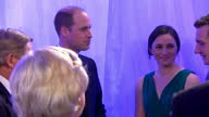 Interior shots of Prince William Duke of Cambridge talking to Dame Sarah Storey Alistair Brownlee at the Genting Arena on December 18 2016 in...