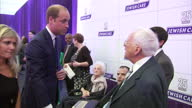 Interior shots of Prince William meeting Jewish Care staff clients and supporters at the Jewish Care 25th anniversary dinner>> on June 11 2015 in...