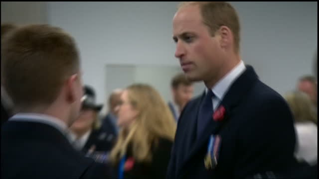 Interior shots of Prince William meeting newly graduated Metropolitan Police officers after attending the Metropolitan Police Service Passing Out...