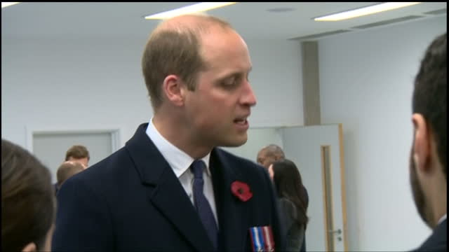 Interior shots of Prince William meeting newly graduated Metropolitan Police officers and speaking with officials after attending the Metropolitan...