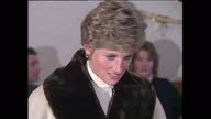 Interior shots of Princess Diana chatting with army wives and their children on a visit to a British army base in Hohne on December 19 1990 near...