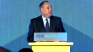 Interior shots of Speech by First Minister Alex Salmond Speaking on how the referendum has touched parts of the community that had never before been...