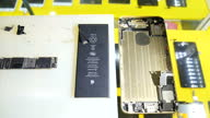 Interior shots of the dismantled components of an Apple Iphone on September 20 2015 in Shenzhen China