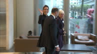Interior shots of the Duchess of Cambridge departing from the Place2Be 'Resilience and Emotional Strength in Schools Forum' at the offices of...