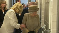 Interior shots of the Queen and Duke of Edinburgh being shown kennels and a veterinary treatment room at Battersea Dogs Home>> on March 17 2015 in...