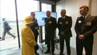 Interior shots of The Queen meeting Metropolitan Police officials on a visit to the new Scotland Yard HQ on 13 July 2017 in London United Kingdom