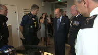 Interior shots of The Queen meeting police personnel whilst visiting the new headquarters of Scotland Yard on 13 July 2017 in London United Kingdom