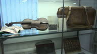 interior shots of the Titanic violin on display in glass cabinet at Wiltshire auction Titanic violin on display at Wiltshire auction on October 18...