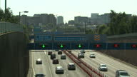 Interior shots of traffic passing into and out of Birmingham city centre on September 06 2015 in Birmingham England