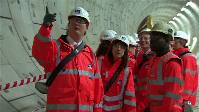 Interior shots of Treasury Secretary Danny Alexander viewing the Farringdon tunnel section of the Crossrail development with Terry Morgan Crossrail...