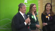 Interior shots of Zac Goldsmith making acceptance speech after being declared the winner of the Richmond Park seat during the 2015 General Election...