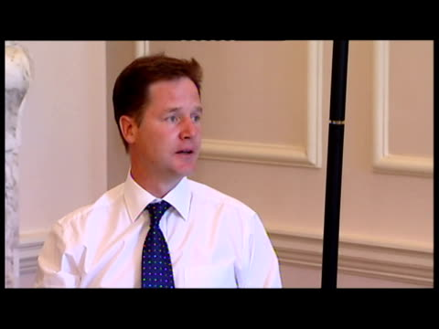Interior shots Prime Minister David Cameron his Deputy Nick Clegg hold their first Cabinet meeting after the summer break Government back to work...