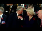 Interior shots Prince Charles Camilla Duchess of Cornwall sit down amongst Victoria Cross George Cross holders for large group photo Prince Charles...