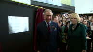 Interior shots Prince Charles Camilla talk to guests unveil plaque at the Royal Welsh College Of Music Drama Prince Charles Camilla Unveil Plaque on...