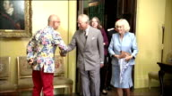 Interior shots Prince Charles Prince of Wales and Camilla Duchess of Cornwall visiting Mount Stewart House in Newtownards on May 22 2015 in...