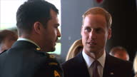 Interior shots Prince William Duke of Cambridge Catherine Duchess of Cambridge tour the Canadian War Museum in Ottowa meet chat with various people...