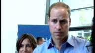 Interior shots Prince William Duke of Cambridge talking with people at event hosted by Mind at Harrow College to mark World Mental Health Day on...