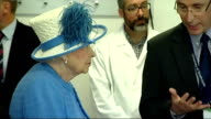 Interior shots Queen Elizabeth II being shown around Strathclyde University Research Centre on July 03 2015 in Glasgow Scotland