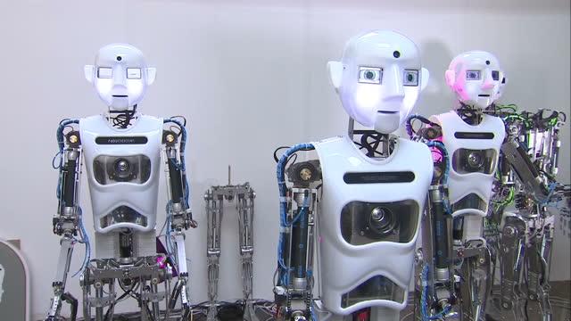 Interior shots RoboThespian Robot at Engineered Arts Ltd workshop designing studio at Engineered Arts on September 03 2015 in Penryn England