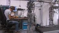 Interior shots roboticist designer engineer at Engineered Arts Ltd workshop RoboThespian Robot at Engineered Arts Ltd on September 03 2015 in Penryn...