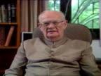 Interior shots Rupert Murdoch interviews Arthur C Clarke during Sky's multichannel launch Rupert Murdoch Interviews Arthur C Clarke on February 26...