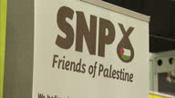 Interior shots SNP Friends of Palestine stand at SNP 2015 party conference on October 17 2015 in Aberdeen Scotland