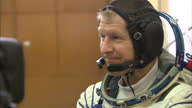 Interior shots Tim Peake speaks to the media re how they coped with malfunctions and practice failures and dealing with them and what's it like being...