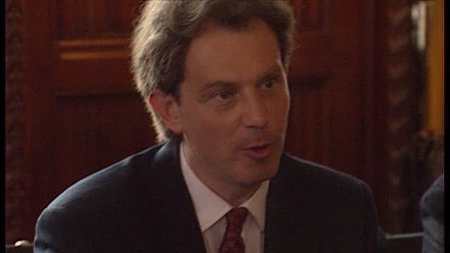 Interior shots Tony Blair chairing shadow cabinet meeting on August 5th 1994 in UNSPECIFIED United Kingdom