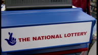 Interior shots views of a National Lottery ticket printing machine in a newsagent on September 9 1994 in London England