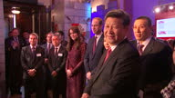 Interior shots Xi Jinping Chinese President Prince William Duke of Cambridge and Catherine Duchess of Cambridge attend a Creative Collaborations UK...