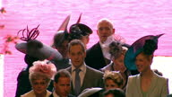 Interior shots Zara Phillips her fiancee Mike Tindall walk into Westminster Abbey Sky News Royal Wedding Westminster Abbey Interior Footage Special...