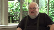Interior soundbite author George R R Martin speaks about the encouragement and pressure from fans on social media 'There are hundreds who write me...