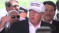 Interior soundbite with Republican presidential candidate Donald Trump speaking about his popularity as a Republican candidate saying that he thinks...