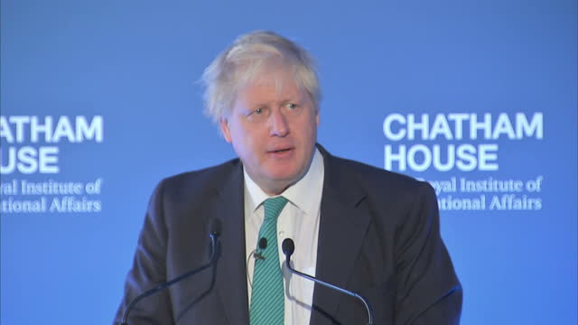 Interior speech Boris Johnson Secretary of State for Foreign Affairs SAYS'That is why people are now watching with such interest and the first...