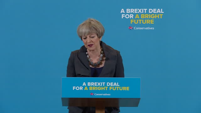 Interior speech by British Prime Minister Theresa May on campaign trail for general election on 1st June 2017 Middlesbrough England